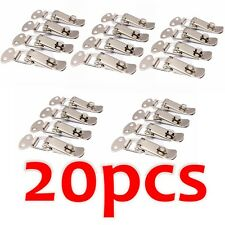 20x Stainless Steel Metal Spring Suitcase Chest Toggle Locking Latch Catch Clasp