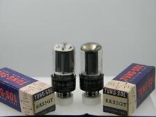 Two Tung Sol 6AX5GT NOS NIB Grey Plates Top D Side D Serious Tubes H352