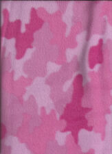 New Pink Camouflage Nordic Fleece Fabric by the 1/4 Yard