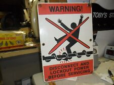 Vintage Porcelain Danger High Voltage Warning Sign 10/14 ALL GROMMETS ARE  THERE