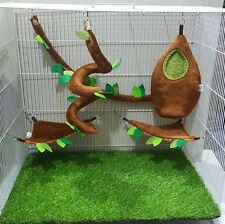 5 Pcs KPS Sugar Glider Cage Set Forest Pattern, Hamster ,Small Pet., Marmoset.