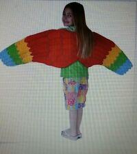 Child Full Length Parrot Costume Wings Dress Up Bird EUC