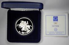2004 GREECE OLYMPICS EQUESTRIAN SILVER 10 EURO PROOF - BOX & COA - PRICED RIGHT!