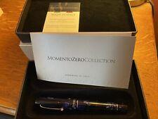 More details for leonardo officina italiana, momento zero  - deep blue - medium nib fountain pen