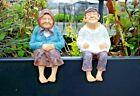 Novelty Grandparents Garden Ornaments Ledge Shelf Sitter Sculpture Figurines