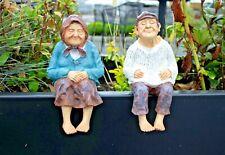 More details for novelty grandparents garden ornaments ledge shelf sitter sculpture figurines