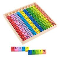 99 Multiplication Table Math Arithmetic Teaching Aids Wooden Children Toys #gib