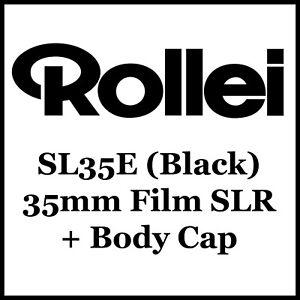 Rollei Rolleiflex SL35E 35mm Film SLR Camera (BLACK) + Body Cap (B)