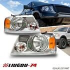 2x Headlights Assembly Fit For 2004-2008 Ford F-150 F150 Chrome Housing Clear W