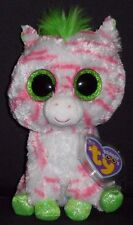 TY BEANIE BOOS - SAPPHIRE the ZEBRA - JUSTICE EXCLUSIVE - MINT with MINT TAG