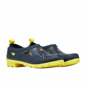 Joules Pop Ons Womens Boots Wellington - Navy Vegetables All Sizes