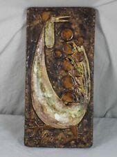 Atelier Schäffenacker - Keramik Wandplatte Motiv Hahn - 5,6 Kg. - 1950er/60er J.