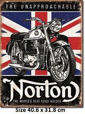 Norton Best Roadholder  Union Jack Tin Sign 1953  Licensed Not Inferior Fake.
