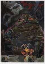 STAR WARS TOPPS GALAXY SERIES 2 ETCHED FOIL INSERT SINGLE 11 JABBA THE HUTT