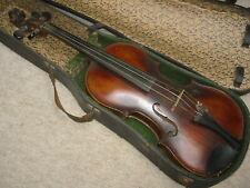 old 4/4 old violin violon, Nice 1part back