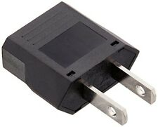Flat European to American Outlet Plug Adapter Universal Voltage 110V-240V New