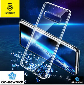 Samsung Galaxy S10 S10Plus Case Clear Full Cover Shockproof TPU Premium *Baseus*