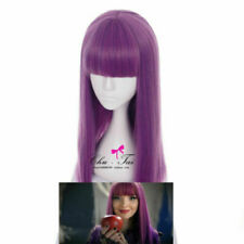 Descendants 2 Mal Cosplay Wig Purple Adult Women Fashion Costume Party Wig