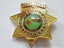 Polizeiabzeichen - West Yellowstone Montana - police badge