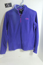 Womens The North Face Purple Parka Full Zip Soft Fleece Style Polyester Jacket