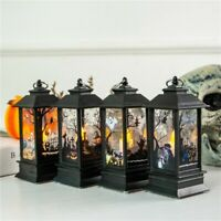 Portable Halloween Vintage Lantern LED Light Lamp Nightlight Party Hanging Decor