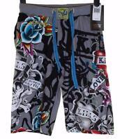 New Men's Ed Hardy Shorts Beach Lounge Sleep Pyjama Christian Audigier RRP$99