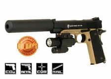 Elite Force 1911 Tactical CO2 Blowback Airsoft Pistol (Black/Dark Earth) 10160