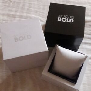 New Movado Bold Watch Presentation Gift Box