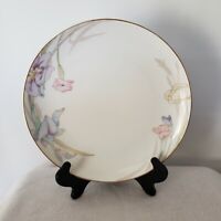 Mikasa Fine China 1 Salad Plates Gabriele L9561 Japan Flowers Gold Rim