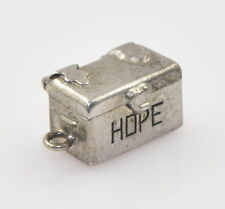 Vintage Sterling Silver Hope Chest Charm Opens