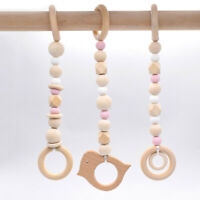 Baby Bird Wooden Beads Play Gyms Toys Teething Teether Activity Gym Hanging Toy