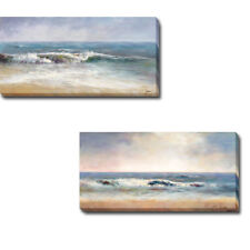 Surf Spray 1 & 2 by John Young 2-pc Gallery-Wrapped Canvas Giclee Art Set