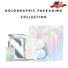QQ Studio Pack of 100 Holographic Laser Packaging Storage and Organization Bags