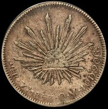 1853 Zs OM Mexico 4 Reales Silver Coin - ANACS VF 30 - KM# 375.9