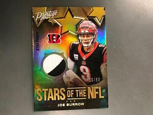 Joe Burrow 2021 Prestige Stars of the NFL 2 Color Patch Relic #19/50 Bengals A18