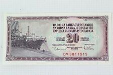 More details for banknote - narodna banka jugoslavvije - 20 dinara - dv981519 - 1978 - ehb