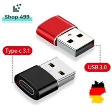 ✅USB A 3.0 Adapter Stecker auf USB-C 3.1 Buchse Laden für iPhone Macbook Laptop✅