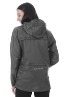 EZRUN Packable Running Rain Coat Jacket Waterproof Windbreaker Hooded - Gray (L)