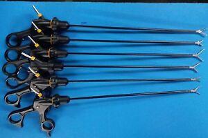 Laparoscopic Biopsy Cup Maxi Grasper Scissors ,Dissector Forceps Instruments Set