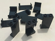 *NEW* 10 Pieces Lego BLACK Panel 1x2x3 with Hollow Studs