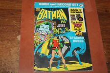 """BATMAN BOOK and RECORD Set """"STACKED CARDS"""" PR-27 1975"""