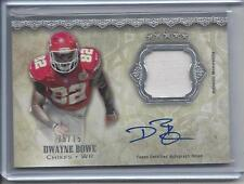 DWAYNE BOWE 2012 TOPPS 5 FIVE STAR PATCH ON CARD AUTO #D 75/75