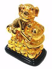 Feng Shui 2018 Good Fortune Zodiac Dog YuanBao Ignot Statue Figurine Decoration