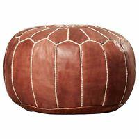 Stunning Moroccan Leather Ottoman Pouffe Pouf Footstool