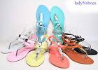 NEW Fashion Color Buckle T-Strap Sling back Flat Sandal Women's Shoe Size 6 - 11