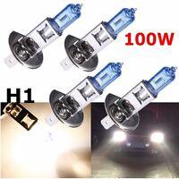 4 pcs H1 12V Car Bright White Fog Head Light Globes Bulbs Lamp 100W Xenon