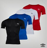 Mens Umbro Short Sleeve Compression Fit Baselayer T Shirt Sizes from S to XXL