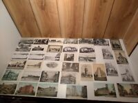 LOT OF 37 antique/vintage Massachusetts postcards real photo early 1900's