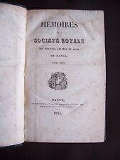 Société des sciences de Nancy 1833-1835