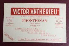 BUVARD Publicitaire Ancien. Vin. Frontignan. Victor Anthérieu. Vermouths.